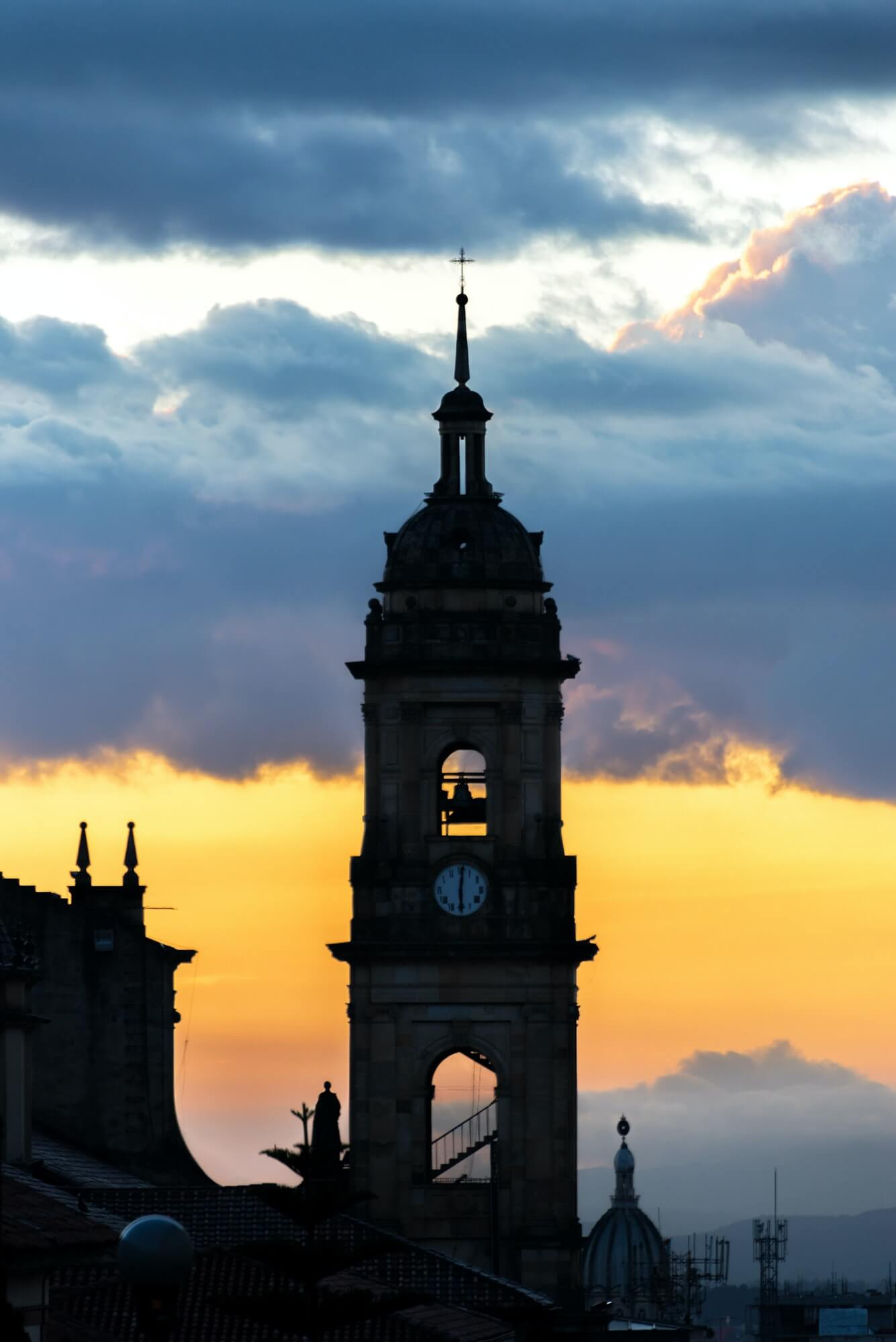 Bogota, Colombia Cathedral at Sunset