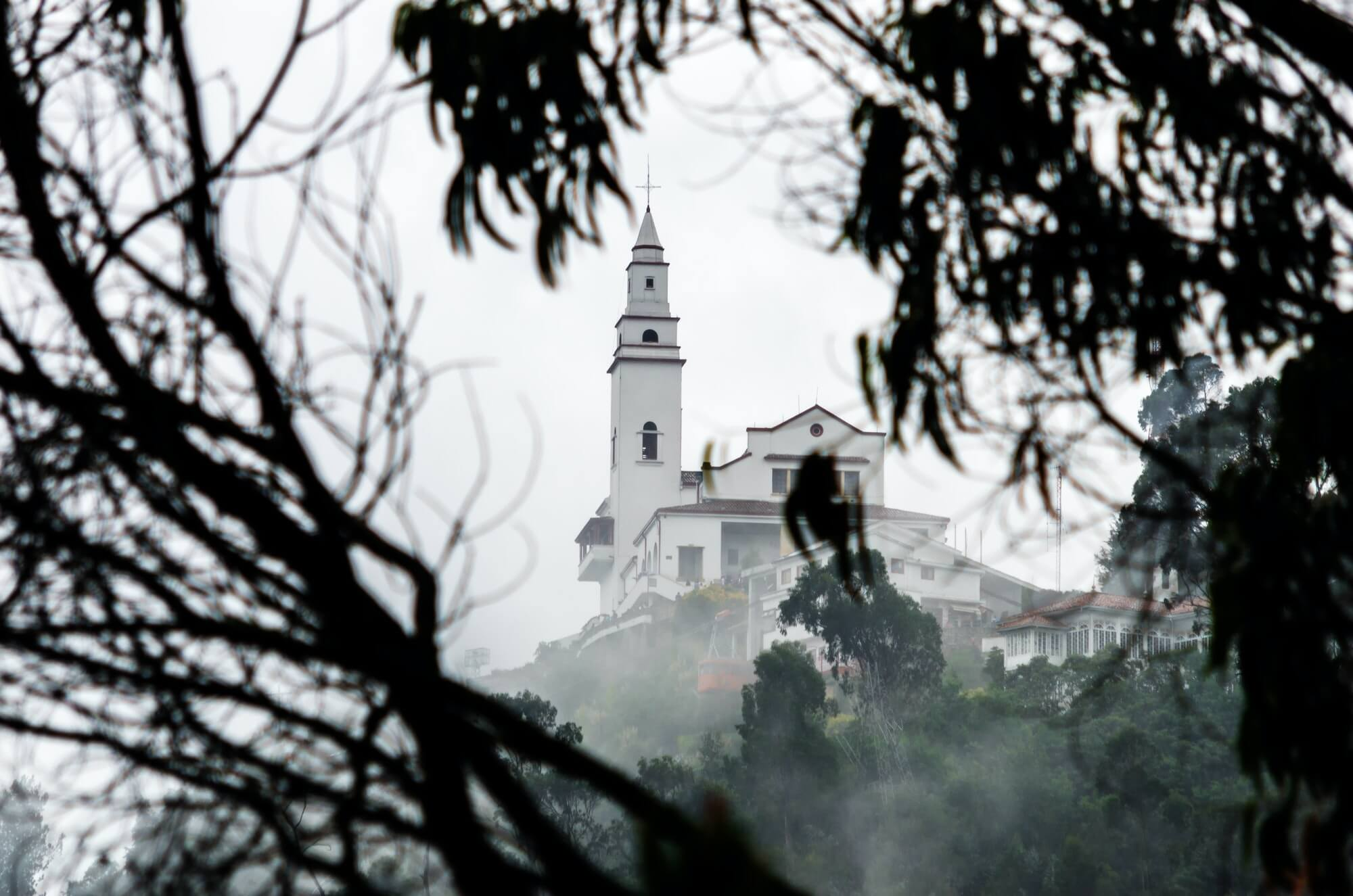 Misty View of Monserrate Church