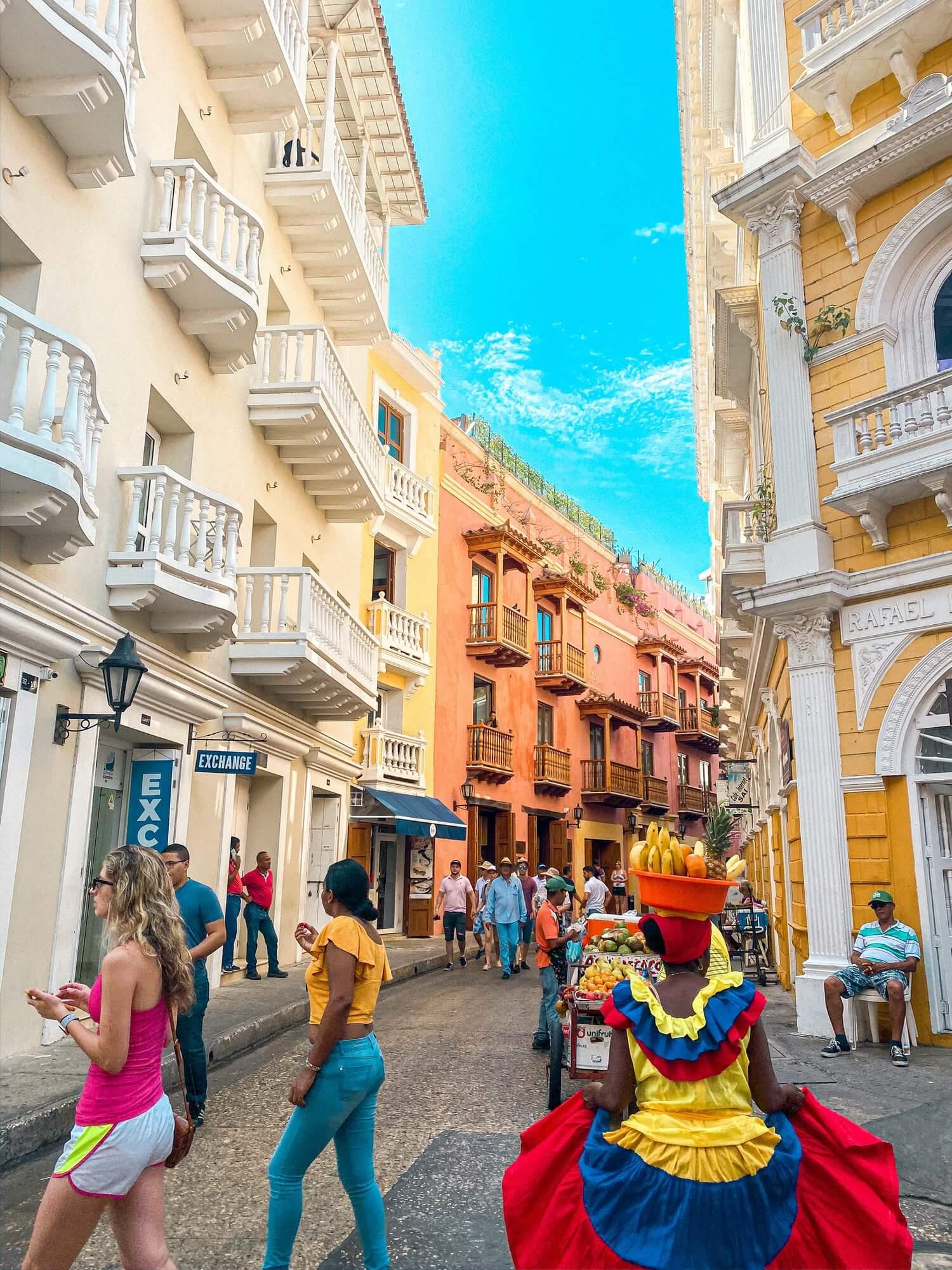Street life of Cartagena